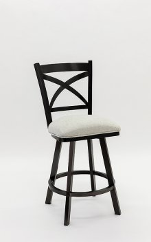 Edmonton Black Stainless Bar Stool
