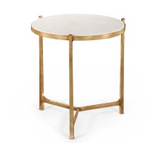 Large Scagliola & Gilded Round Side Table