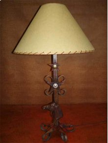 Metal Lamp With Horse Head