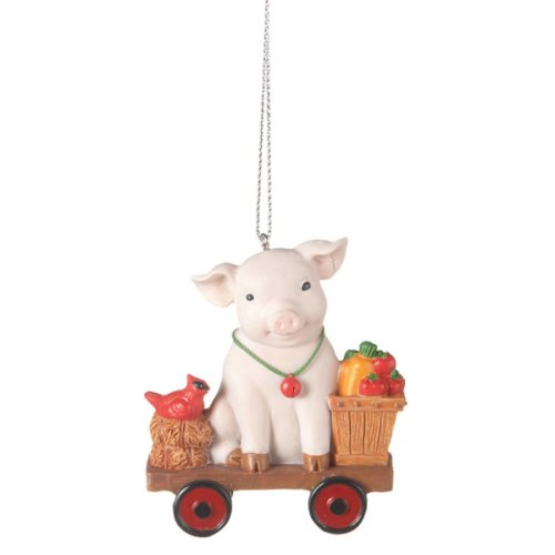 Pig on Cart Ornament