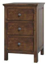 Alder Heritage 3 Drawer Nightstand Product Image
