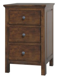 Alder Heritage 3 Drawer Nightstand