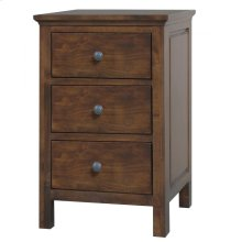 Solid Alder Heritage 3 Drawer Nightstand