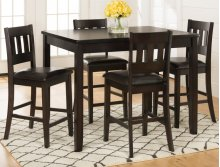 Dark Prairie 5-pack- Counter Height Table and 4 Stools