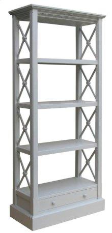 Cross Bar Bookshelf- Gry