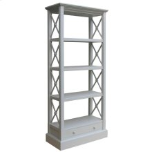 Cross Bar Bookshelf- Gry
