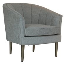 Sutton Metallic Leg and Champagne Linen Upholstered Channel Back Chair