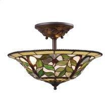 Latham 3-Light Semi-Flush in Tiffany Bronze