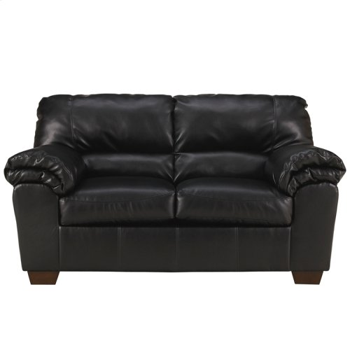 Signature Design by Ashley Commando Loveseat in Black Leather [FSD-2129LS-BLK-GG]