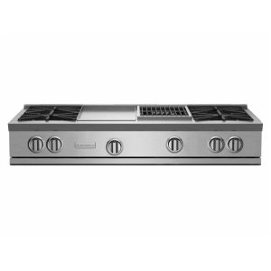 "Bluestar48"" RNB Rangetop with 12"" Griddle & Charbroiler"
