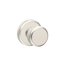 Bowery Knob with Greyson trim Hall & Closet Lock - Polished Nickel