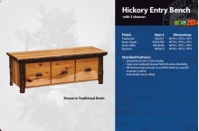 Hickory Entry Bench