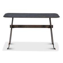 Pebble Desk, Moleskin Grey,Iron Base