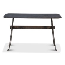 Pebble Desk, Moleskin Grey,Iron Base