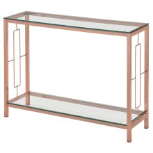 Athena Console Table in Rose Gold