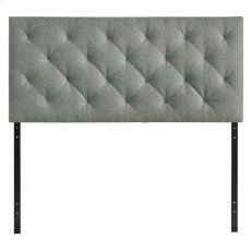 Theodore Queen Upholstered Fabric Headboard in Gray Product Image