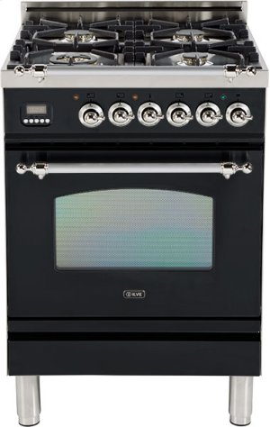 "Gloss Black - Nostalgie 24"" Gas Range"