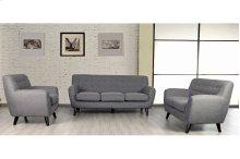 Edie Stone Gray Sofa, Loveseat & Chair, U3023