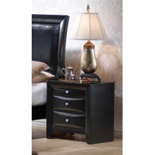 Briana Black Two-drawer Nightstand With Tray