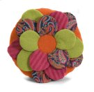 Estelle Multi Fabric Flower Pillow Product Image