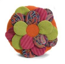 Estelle Multi Fabric Flower Pillow