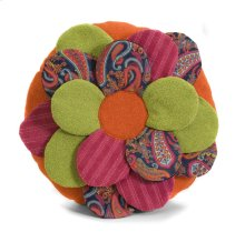Estelle Multi Fabric Flower Pillow