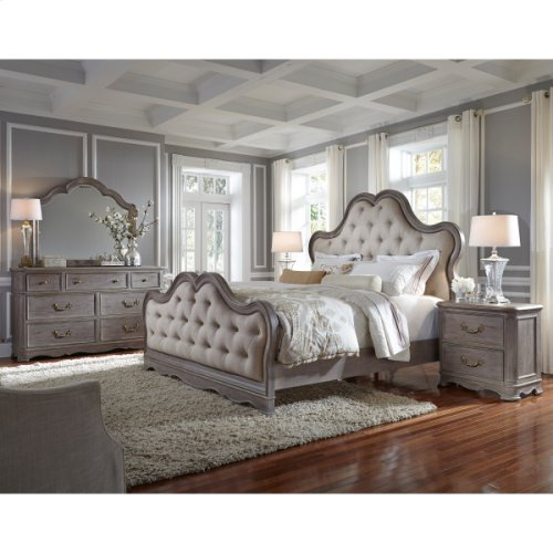 Simply Charming Queen Tufted Upholstered Headboard