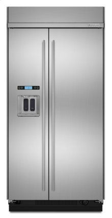 """48"""" Euro-Style Stainless Steel Built-In Refrigerator with Dispenser"""