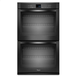 8.6 cu. ft. Double Wall Oven with SteamClean Option - BLACK