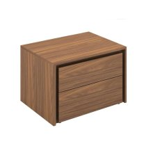 The Zen Walnut Veneer Nightstand / End Table