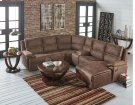 Laf Recliner Loveseat, Brown Fabrci Product Image