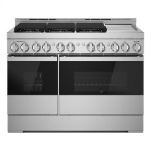 "48"" NOIR Gas Professional-Style Range with Chrome-Infused Griddle"