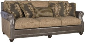 Julianna Leather/Fabric Sofa, Julianna Leather Fabric Sofa