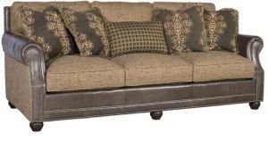 Julianna Leather/Fabric Sofa, Julianna Leather Fabric Sofa