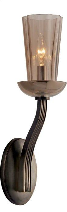 Visual Comfort BBL2032BZ-AMT Barbara Barry All Aglow 1 Light 4 inch Bronze Decorative Wall Light in Amethyst Glass