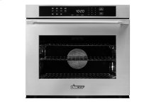 """Heritage 30"""" Single Wall Oven, Silver Stainless Steel, Epicure Style handle"""
