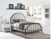 Westgate Headboard and Footboard - King - Rustic Black
