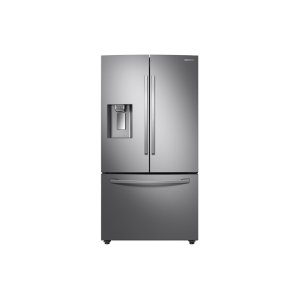 SAMSUNG23 cu. ft. Counter Depth 3-Door French Door Food Showcase Refrigerator in Stainless Steel