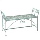 Green Backless Bench w/ Scroll Detail Product Image