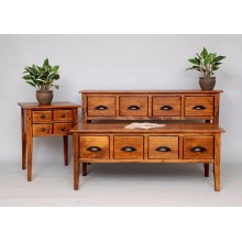 """#337 Pine Essential End Table 19""""wx19""""dx25""""h"""