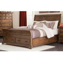 Elk Grove Rustic Vintage Bourbon Queen Bed