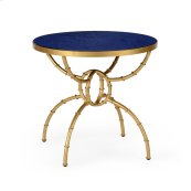 Bamboo Side Table - Lapis