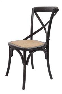 Brody X-back Side Chair-black