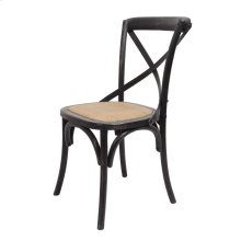 Brody X-back Side Chair-black