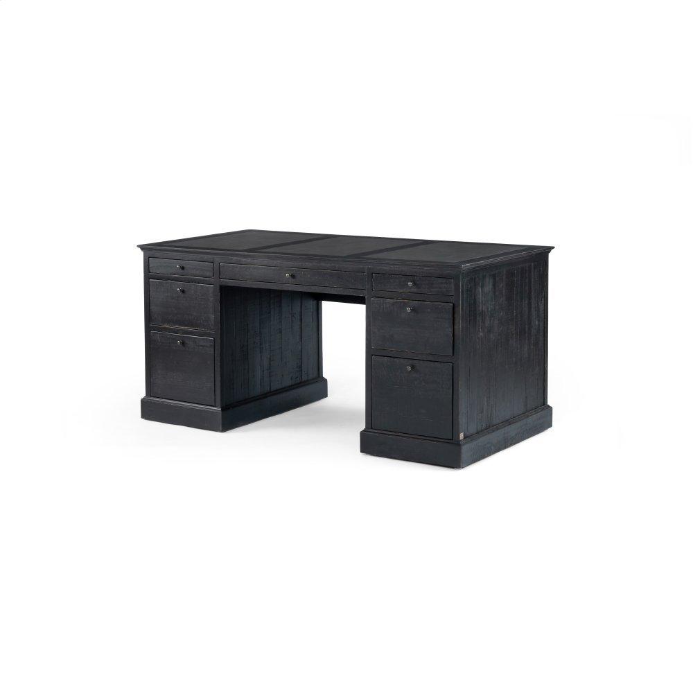 Ivy Executive Desk-matte Black