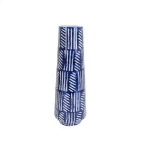 """Blue/white Painted Glaze Vase 18.75"""""""