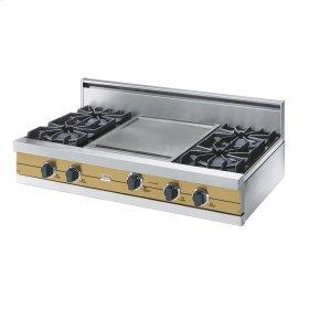 """Golden Mist 42"""" Open Burner Rangetop - VGRT (42"""" wide, four burners 18"""" wide griddle/simmer plate)"""