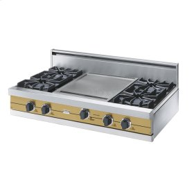 "Golden Mist 42"" Open Burner Rangetop - VGRT (42"" wide, four burners 18"" wide griddle/simmer plate)"