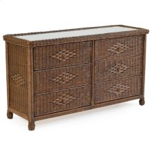 Wicker 6 Drawer Chest Coffee Bean 3706