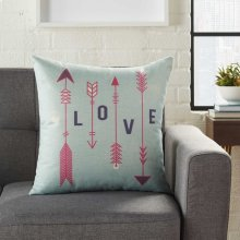 """Home for the Holiday L9014 Multicolor 18"""" X 18"""" Throw Pillows"""